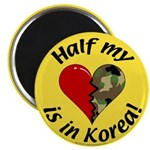 Half my heart is in Korea Magnet