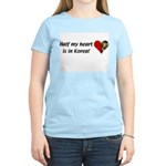 Half my heart is in Korea Women's Pink T-Shirt
