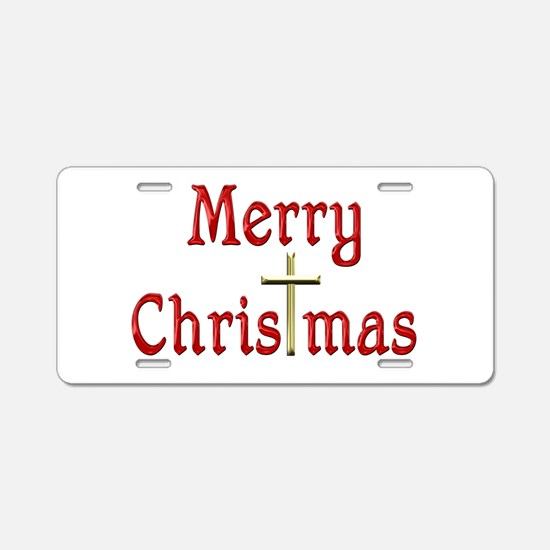 ChrisTmas Aluminum License Plate