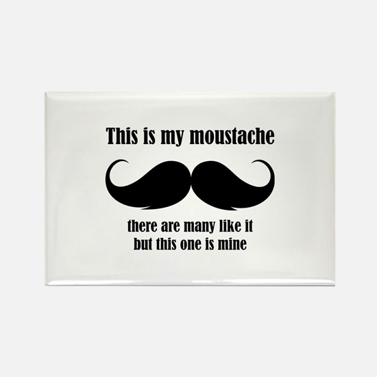 This is my moustache Rectangle Magnet