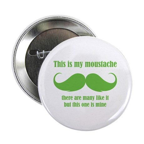 """This is my moustache 2.25"""" Button (100 pack)"""