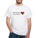Half my heart is in Kosovo White T-Shirt