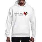 Half my heart is in Kosovo Hooded Sweatshirt