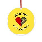 Half my heart is in Kosovo Keepsake (Round)