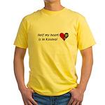 Half my heart is in Kosovo Yellow T-Shirt
