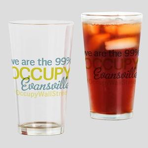 Occupy Evansville Drinking Glass
