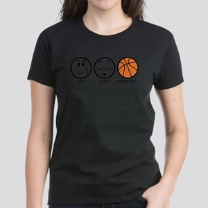Eat Sleep Basketball Women's Dark T-Shirt