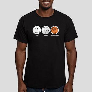 Eat Sleep Basketball Men's Fitted T-Shirt (dark)