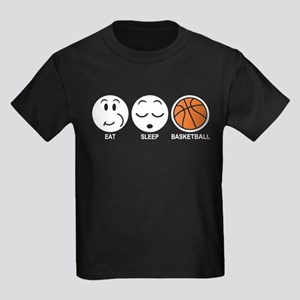 Eat Sleep Basketball Kids Dark T-Shirt