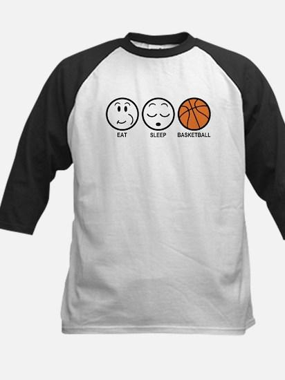 Eat Sleep Basketball Kids Baseball Jersey