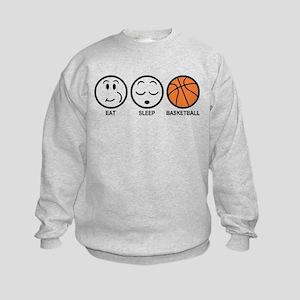 Eat Sleep Basketball Kids Sweatshirt