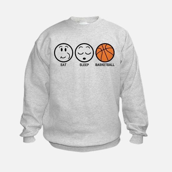 Eat Sleep Basketball Sweatshirt