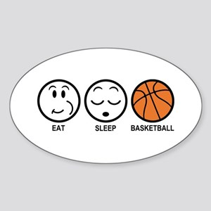 Eat Sleep Basketball Sticker (Oval)
