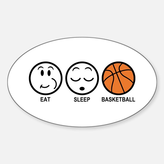 Eat Sleep Basketball Sticker (Oval)