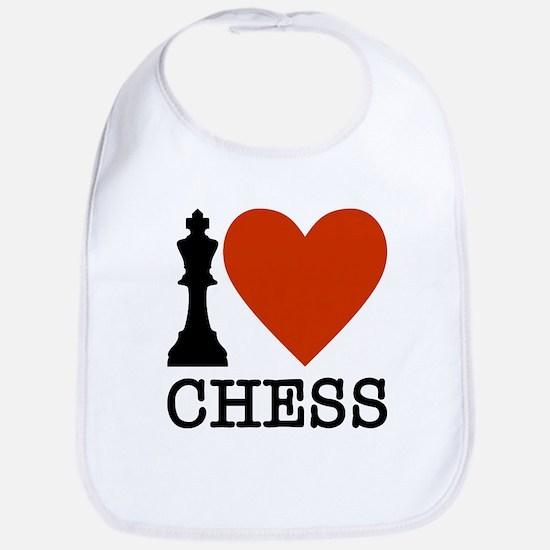 I Heart Chess Baby Bib