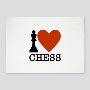 I Heart Chess 5'x7'Area Rug