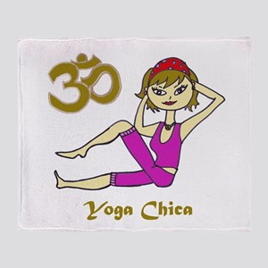 Yoga Chica Throw Blanket