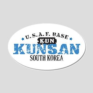 Kunsan Air Force Base 22x14 Oval Wall Peel