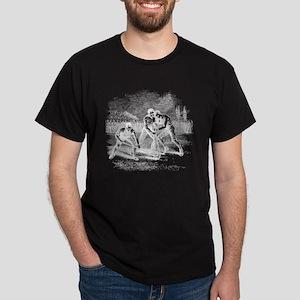 Vintage Lacrosse Black T-Shirt