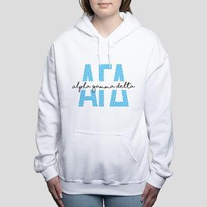 Alpha Gamma Delta Polka Women's Hooded Sweatshirt