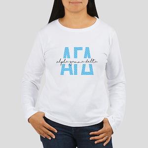 Alpha Gamma Delta Polk Women's Long Sleeve T-Shirt