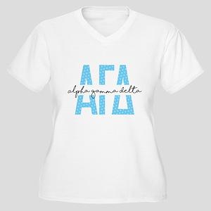 Alpha Gamma Delta Women's Plus Size V-Neck T-Shirt