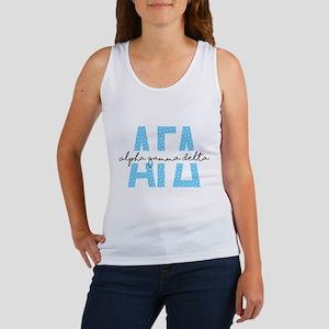 Alpha Gamma Delta Polka Dots Women's Tank Top