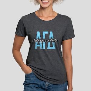 Alpha Gamma Delta Polka Womens Tri-blend T-Shirts