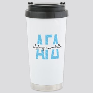 Alpha Gamma Delta 16 oz Stainless Steel Travel Mug