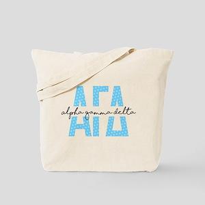 Alpha Gamma Delta Polka Dots Tote Bag
