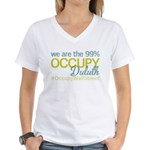 Occupy Duluth Women's V-Neck T-Shirt