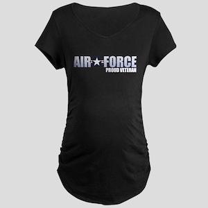 USAF Veteran Maternity Dark T-Shirt