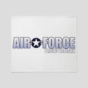 USAF Veteran Throw Blanket