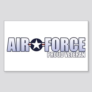 USAF Veteran Sticker (Rectangle)