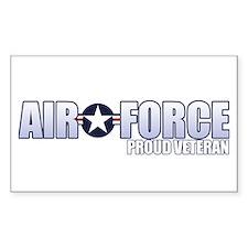 USAF Veteran Sticker (Rectangle)