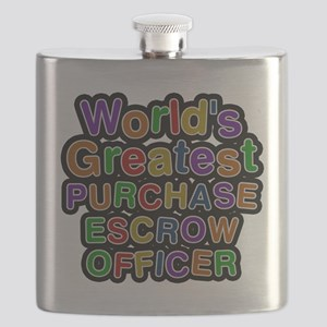 Worlds Greatest PURCHASE ESCROW OFFICER Flask