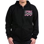 I wear pink for Ivy Zip Hoodie (dark)
