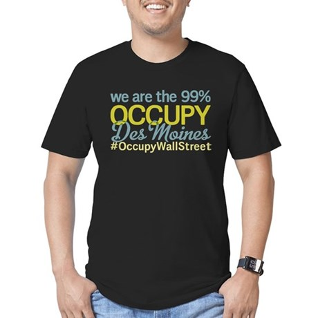 Occupy Des Moines Men's Fitted T-Shirt (dark)
