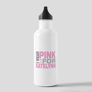 I wear pink for Katelynn Stainless Water Bottle 1.