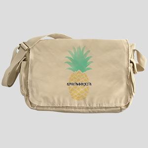 Alpha Gamma Delta Pineapple Messenger Bag