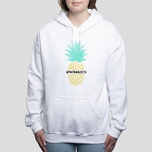 Alpha Gamma Delta Pineap Women's Hooded Sweatshirt