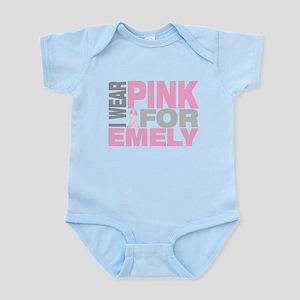 I wear pink for Emely Infant Bodysuit