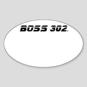 BOSS 302 Sticker (Oval)