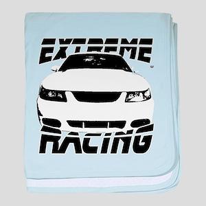 Racing Mustang 99 2004 baby blanket