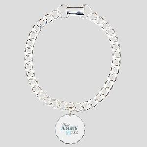 Proud Army Mom Charm Bracelet, One Charm