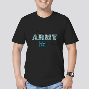 Proud Army Mom Men's Fitted T-Shirt (dark)