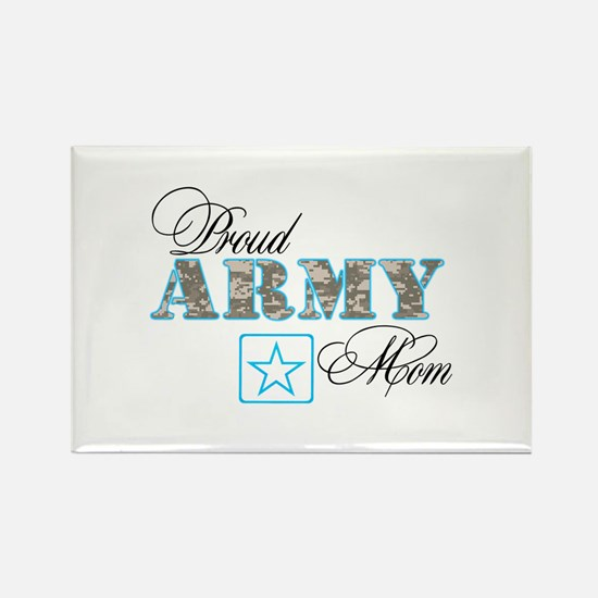 Proud Army Mom Rectangle Magnet (100 pack)