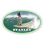 Stanley The Surfing Rat Terror Oval Sticker