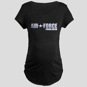 USAF Sister Maternity Dark T-Shirt