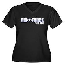 USAF Niece Women's Plus Size V-Neck Dark T-Shirt